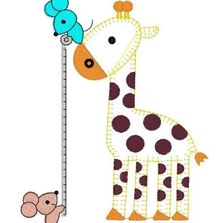 图片 长颈鹿与老鼠花样-田岛刺绣板带DST