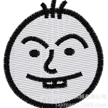 图片 【土豆君】露齿笑 花样-田岛刺绣版带DST【使用权】