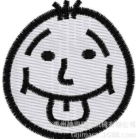 图片 【土豆君】 吐舌头搞怪 花样-田岛刺绣版带DST【使用权】