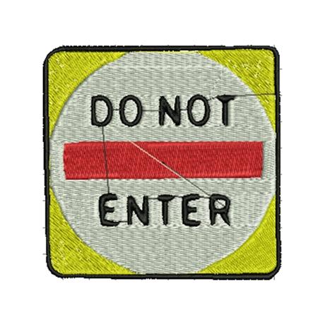 图片 DO NOT ENTER 版带花样-刺绣设计-JEF